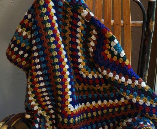 colorful crocheted afghan afghan crochet