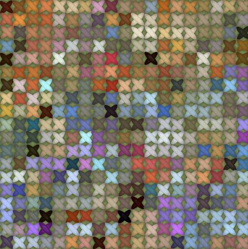 Colorful Cross Stitch Background