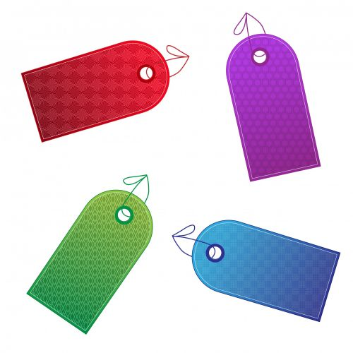Colorful Designer Gift Tags