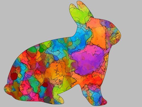 Colorful Easter Rabbit