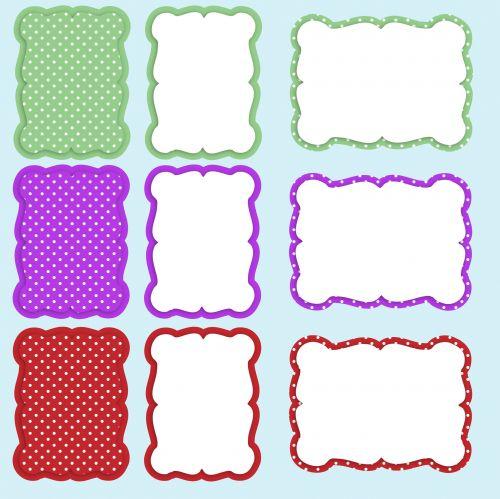 Colorful Frames Set Clipart