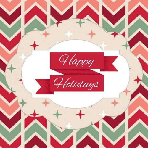 Colorful Happy Holidays Greeting