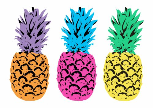 Colorful Illustrated Pineapples