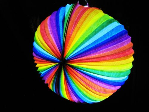 colorful lantern rainbow colors stripes