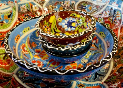 Colorful Mexican Pottery Dinnerware