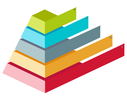 colorful pyramid 3d infographic chart infographic
