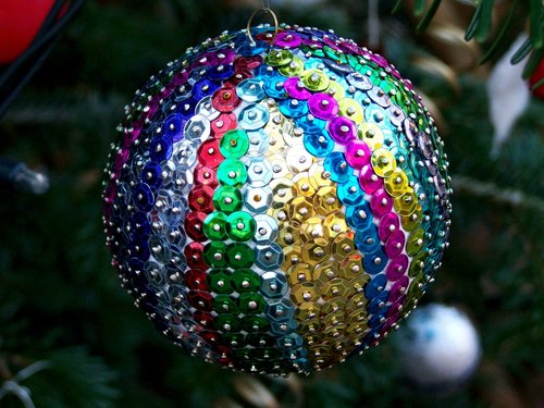 colorful sphere  christmas tree ornament  holiday
