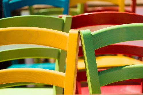 Colorful Wooden Chairs