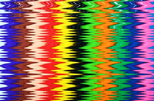 Colorful Zigzag Stripes Background