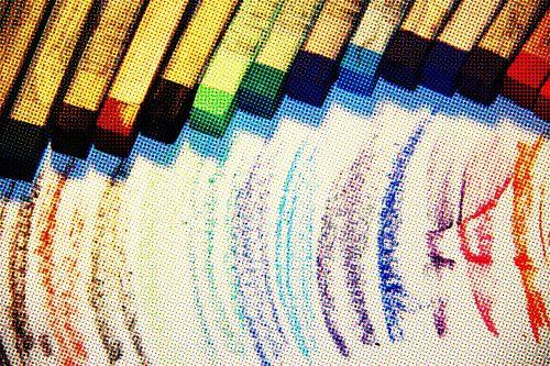 colors chalks texture