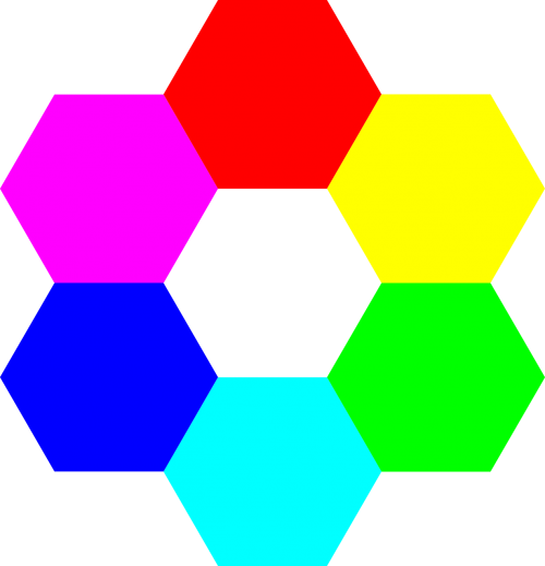 colors hexagon symmetry
