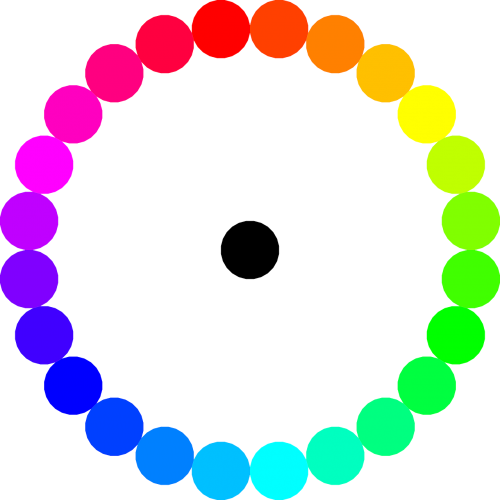 colors circle symmetry