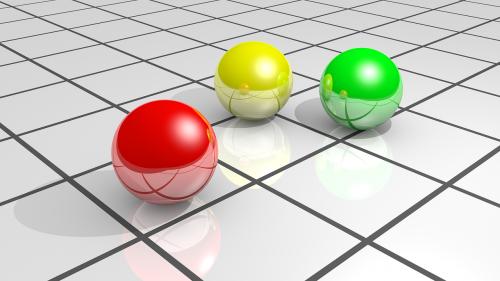 colors spheres floor