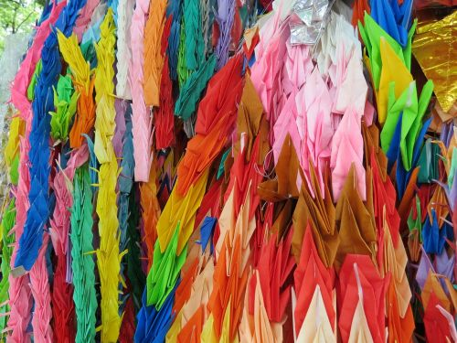 colors japan origami