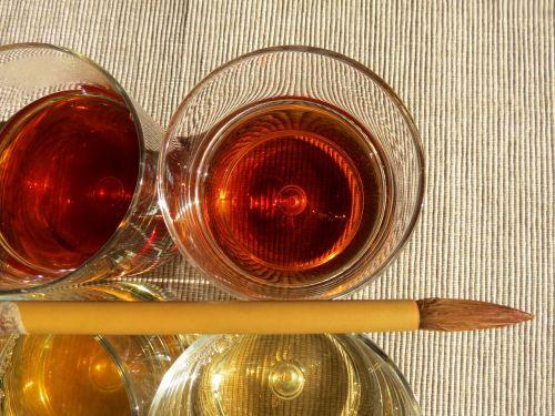 colors tea brush