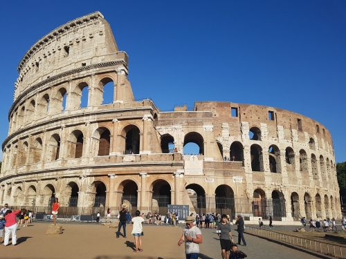 colosseum italy the ruins of the