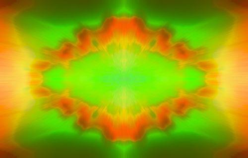 Colour Burst In Green And Yellow