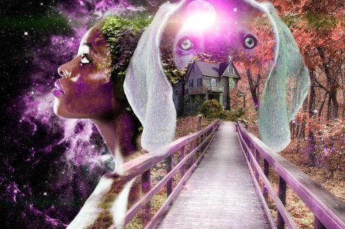 colour coded bridge woman