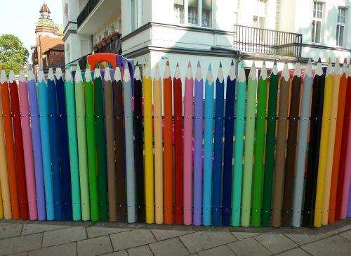 colour pencils fence limit