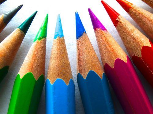 colour pencils color paint