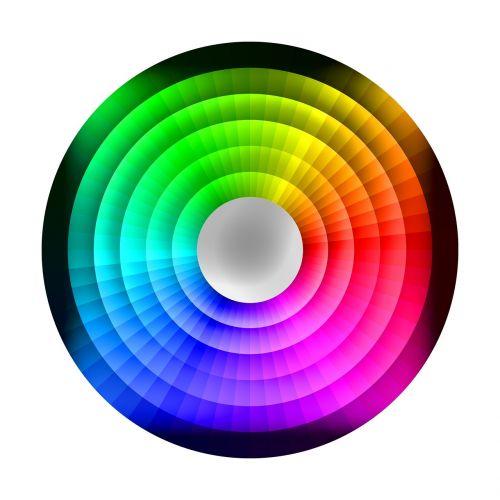 colour wheel chromatic rainbow