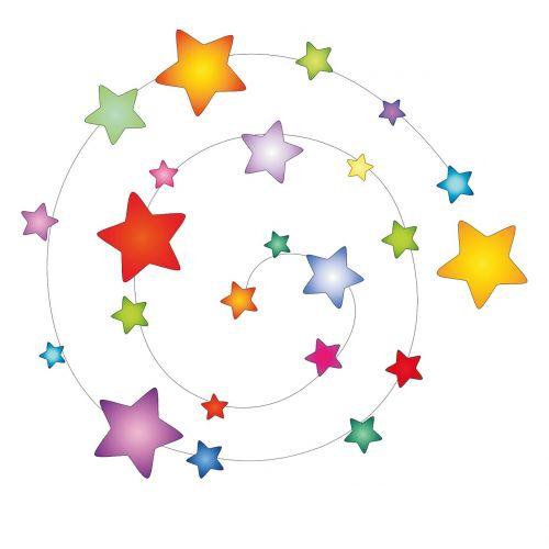 coloured star spiral