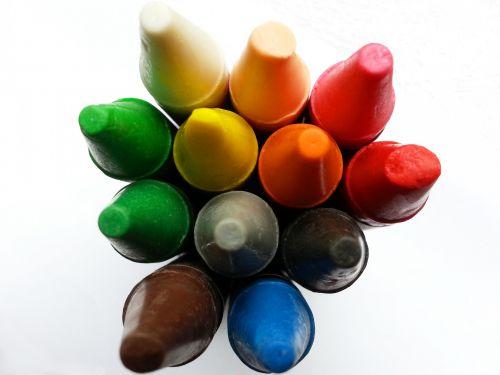 Coloured Wax Crayons