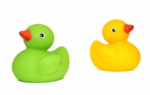 Colourful Bath Time Rubber Ducks