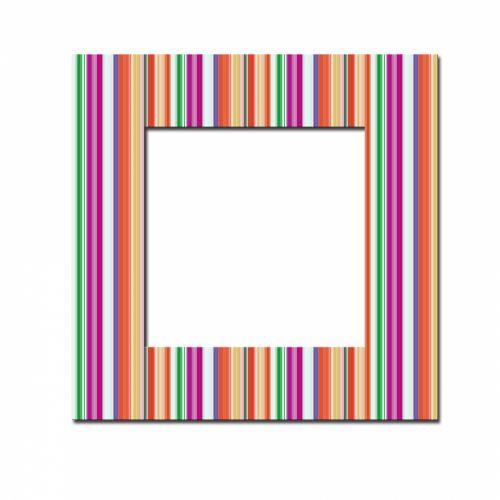 Colourful Striped Frame