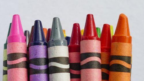 Colourful Wax Crayons