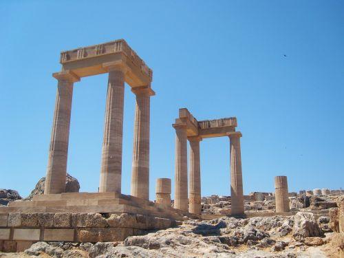 column ruins greek columns