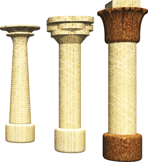 column 3d pharaonic