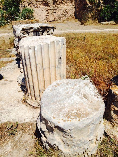columnar ruins stones