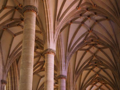 columnar village church nave