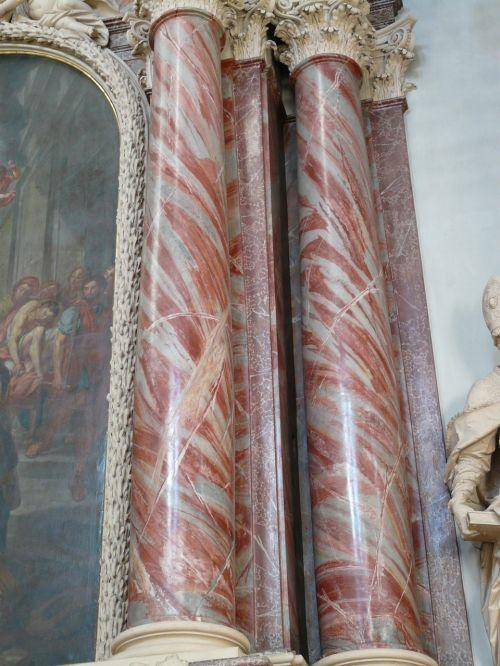 columnar red marble