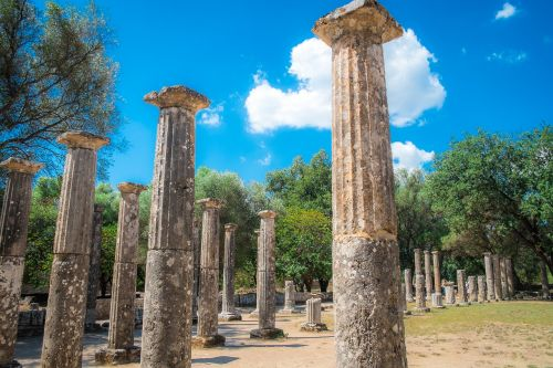 columns ancient olympia ruins