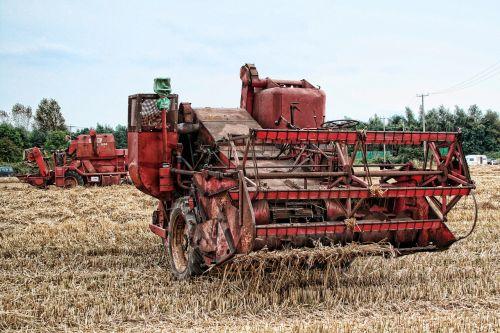 combine harvester farming agriculture