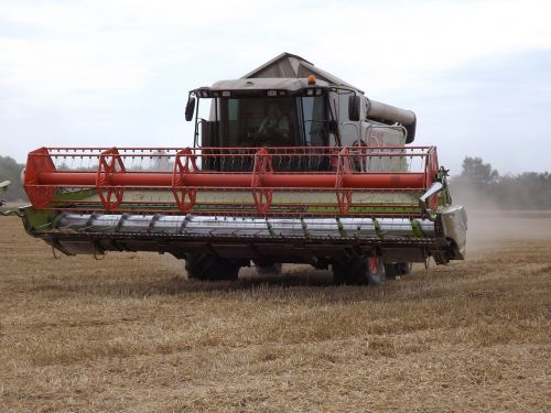 combine harvester agriculture nature