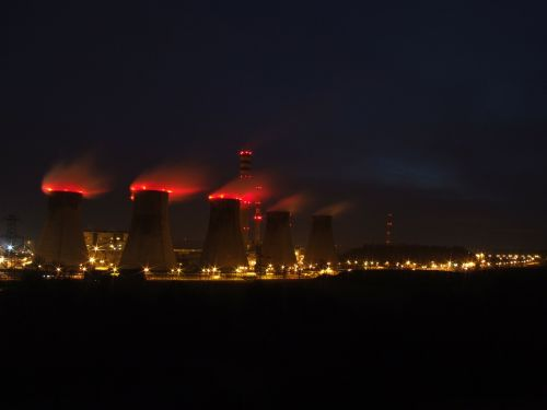 combined heat and power plant chimneys smoke