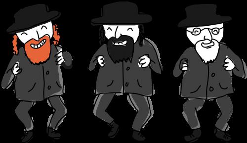 comic characters dance ethnic