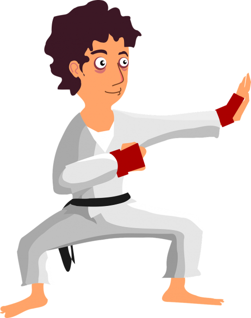 comic characters karate man