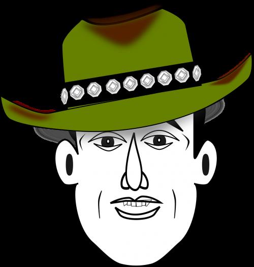 comic characters cowboy happy