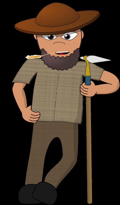 comic characters dress-up head farmer