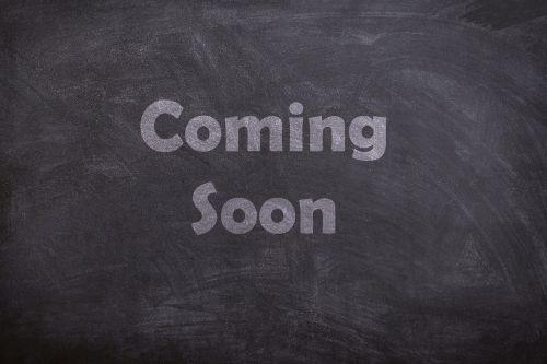 coming soon chalk board
