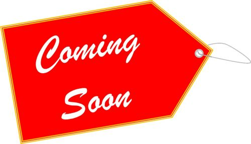 coming soon label tag