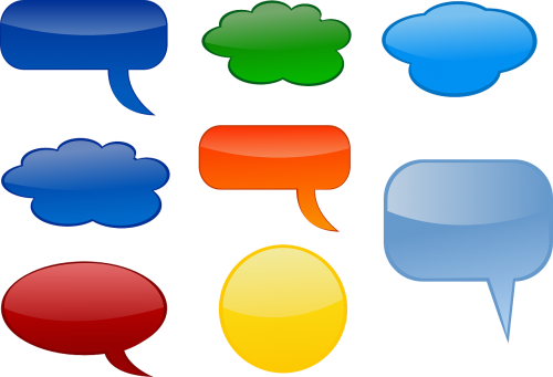 comments bubbles speech balloon