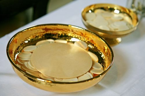communion communion wafers cup