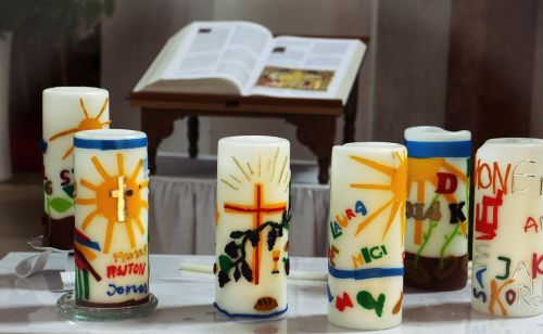 communion candles candles symbol
