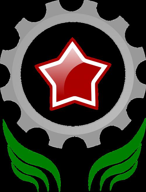 communism star cogwheel