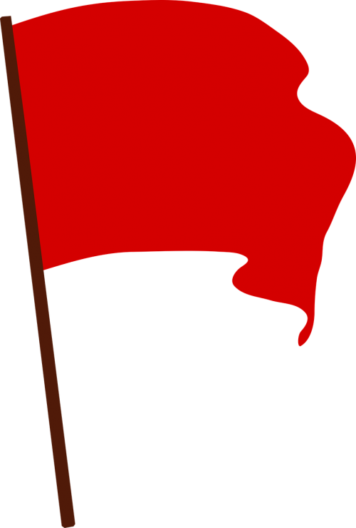 communist flag protest